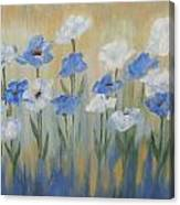 Blue And White Flora Canvas Print