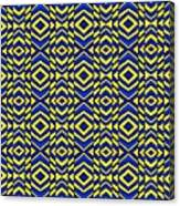 Blue And Yellow Chevron Pattern Canvas Print