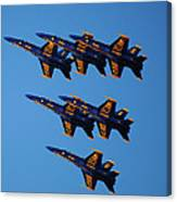 Blue Angels Delta Canvas Print