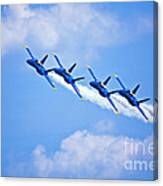 Blue Angels On Flyby Canvas Print