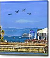 Blue Angels San Francisco Wharf Canvas Print