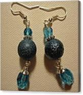 Blue Ball Sparkle Earrings Canvas Print