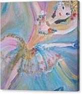 Blue Ballet Canvas Print