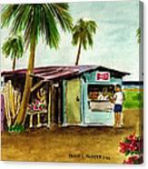 Blue Beach Shack Los Pinones Puerto Rico Canvas Print