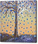 Blue-blossomed Wishing Tree Canvas Print