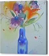 Blue Bottle Bouquet Canvas Print