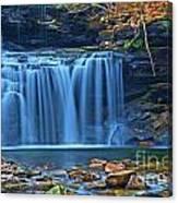 Blue Cascade Falls Canvas Print