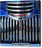 Blue Chevy Pick-up Grill Canvas Print