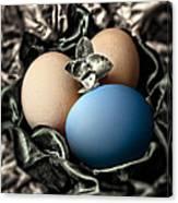Blue Classy Easter Egg Canvas Print