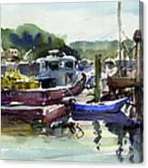 Blue Dinghy Canvas Print