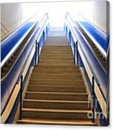 Blue Escalators Canvas Print