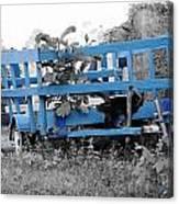 Blue Farm Wagon Canvas Print