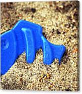 Blue Fish Swims In Sand Sea Canvas Print