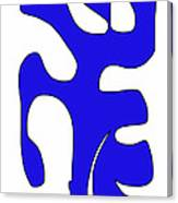 Blue Form 15 Canvas Print