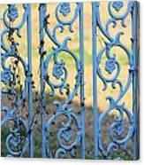 Blue Gate Swirls Canvas Print
