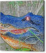 Blue Gator Canvas Print