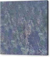 Blue Grey Abstract Canvas Print