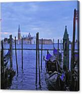 Blue Hour At The Docks Of San Marco Canvas Print