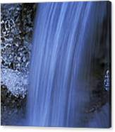 Blue Icy Waterfall Canvas Print