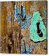 Blue Keyhole Canvas Print