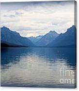 Blue Lake Mcdonald Canvas Print