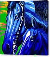 Blue Madonna And Child Canvas Print