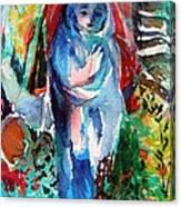 Blue Madonna Canvas Print