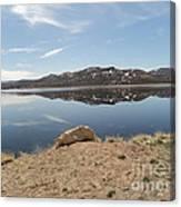 Blue Mesa Reflection Canvas Print