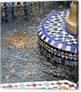 Blue Mosaic Fountain I Canvas Print