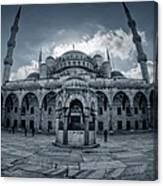Blue Mosque Courtyard Canvas Print