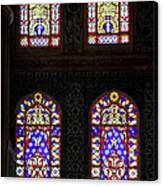 Blue Mosque Stained Glass Windows Canvas Print
