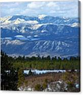 Blue Mountain View Canvas Print