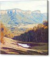 Blue Mountains Paintings Canvas Print