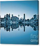Blue New York City Canvas Print