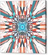 Blue Orange Kaleidoscope Canvas Print