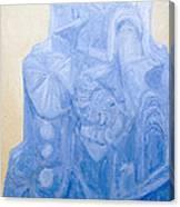 Blue Pagan Church Canvas Print