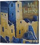 Blue Palace Greeting Card Canvas Print