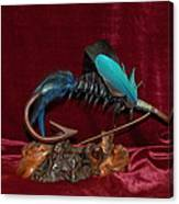 Blue Persuader Trout Fly Canvas Print