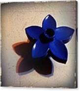 Blue Plastic Flower Canvas Print