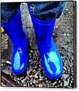 Blue Rain Boots Canvas Print
