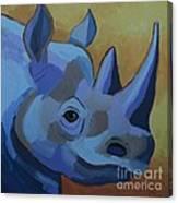 Blue Rhino Canvas Print