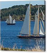 Blue Schooner 03 Canvas Print