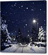 Blue Silent Night Canvas Print