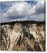 Blue Skies And Grand Canyon In Yellowstone Canvas Print
