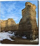 Blue Skies At Monument Rocks Canvas Print