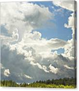 Blue Sky And Building Storm Clouds Fiane Art Print Canvas Print