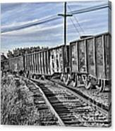 Blue Sky Train2 Canvas Print