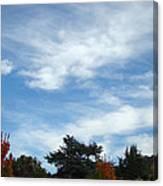 Blue Sky White Clouds Autumn Prints Canvas Print