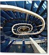 Blue Spiral Stairsway Canvas Print