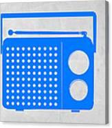 Blue Transistor Radio Canvas Print